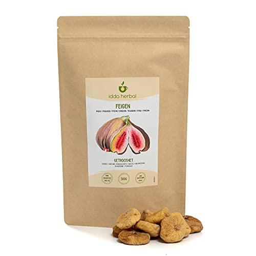 Figues séchées (500g), figues naturelles, non sucrées et non sulfurées, snacks aux fruits secs