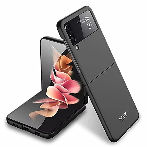 YukeTop Custodia per Samsung Galaxy Z Flip 3 Cover, Custodia Protettiva Pieghevole, PC Rigido, a Prova di Caduta, Antiurto, Cover Protection per Samsung Galaxy Z Flip 3.(Nero)