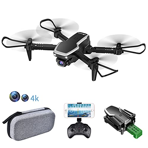 allcaca S171 Mini Drone con Cámaras 4K HD Duales, Cuadricóptero FPV RC...