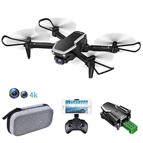 allcaca S171 RC Mini Drone con Telecamera FPV 4K HD Doppia - RC Quadricottero WiFi Pieghevole Drone - Un Pulsante Decollo & Atterraggio - Modalità Senza Testa 3D Flip Adatto ai Principianti e Bambini