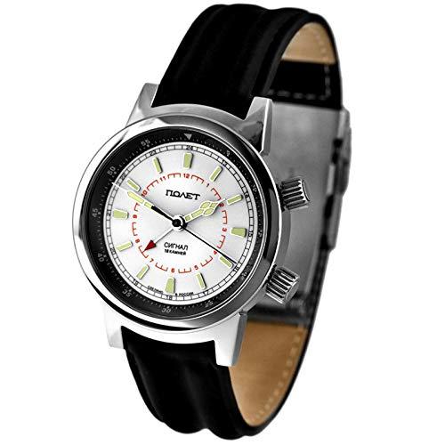 POLJOT 2612 Signal Alarm Wecker Aviator Armbandwecker russische mechanische Uhr