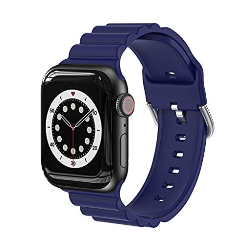 HNLHAKER Compatible con la Correa del Reloj de Apple 6 5 4 3 2 1 Se, Silicone Business Models Strap, Iwatch Strap 38mm 40mm 42mm 44mm,G,42/44MM
