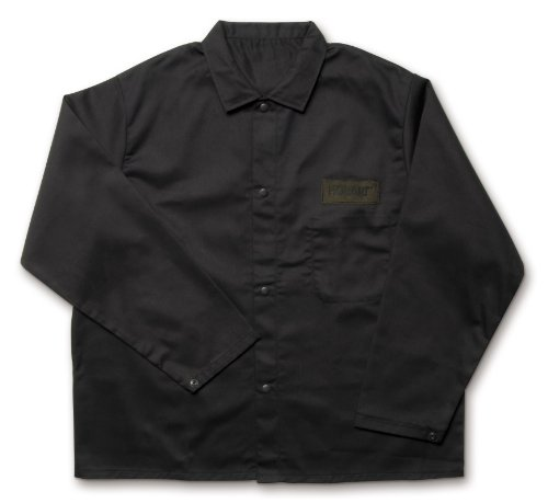 Hobart 770568 Flame Retardant Cotton Welding Jacket - XXL,Black,11.7 x 9.9 x 1.3 Inch