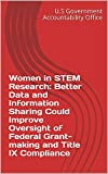 Women in STEM Research: Better Data and Information Sharing Could Improve Oversight of Federal Grant-making and Title IX Compliance