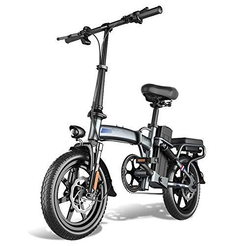 AYHa Bicicleta plegable eléctrica, 48V batería de litio extraíble 400W Motor 14