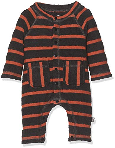 Imps & Elfs Overall Long Sleeve Combinaison, Multicolore (Blue Graphite Stripe P342), 62 Bébé garçon
