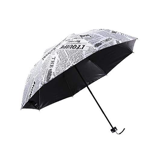 Drucken Regenschirm Sonnenschirm Kompakt Schirm UV Schutz Taschenschirm mit Hülle Kreativ Umbrella für Kinder Damen Studentin Freundin Geschenk Leicht Windfest Durchmesser 96cm