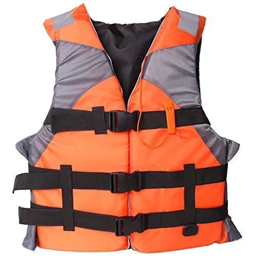 Life Jackets for Adults Life Vest Boating Jacket Water Sport Waistcoat Water Sports Outdoor Lightweight Orange
