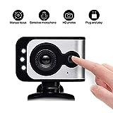 AZCSPFALB 720P 480P HD Webcam Mit Mikrofon USB Plug and Play Manueller Fokus LED Leuchtet Multifunktionale Basis, Für Konferenzen, Live Übertragungen, Gaming Und Videoanruf
