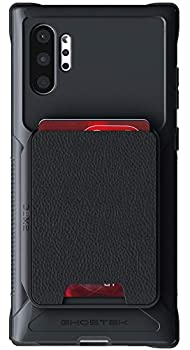 Ghostek Exec Galaxy Note 10 Plus Wallet Case Card Holder with Built-in Magnet for Car Mounts and Easily Detachable Leather Card Pocket for Wireless Charging Samsung Galaxy Note10+  6.8 Inch  -  Black