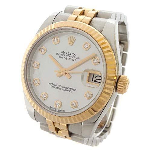 ロレックス ROLEX デイトジャスト ホワイトシェル文字盤 178271NG ランダム番 腕時計 シルバー ピンクゴールド レディース 自動巻き [中古]