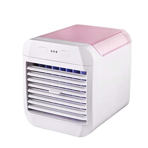 iXOOAA Mini-Luftbefeuchter mit 700 ml Wassertank, 3-Gang-Stufe, kleine Klimaanlage, Wasserluftkühler mit Schreibtischständer, Bürobefeuchtungssystem mit SUb-Ladung (Rosa)