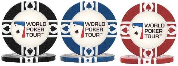 World Poker Tour Clay Poker Chip Sample Set - 3 New Chips!