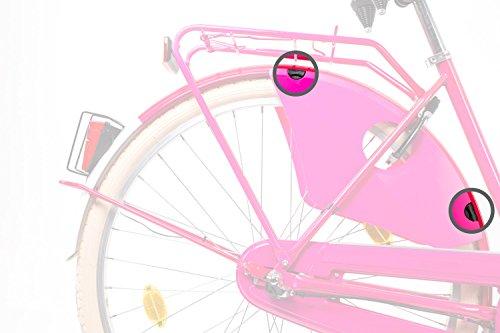 4 Stück Befestigung Clip Kleiderschutz Rock Schutz Fahrrad Hollandrad City Bike schwarz