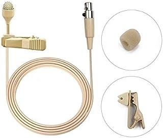Bolymic UHF Micrófono de solapa profesional Lavalier de 4 pines, para sistema inalámbrico Shure