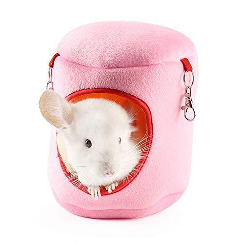 Hamster Bett Meerschweinchen Bett Hamster Käfigzubehör Kaninchen Bett Hamster Hammock Kleiner Haustier-Bett-Rattenkäfig Zubehör Cat Betten Ferret Hängematten rosa, XL plm46