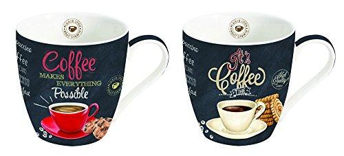Kaffee Tassen 2er Set - italienisches Design - perfekte Geschenkidee - ideal für Kaffeeliebhaber