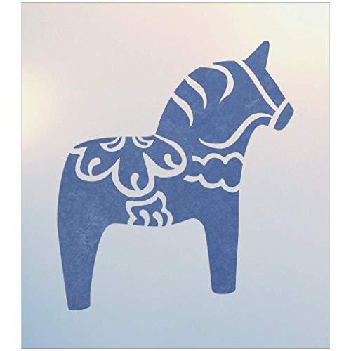 Swedish Dala Horse Stencil - The Artful Stencil