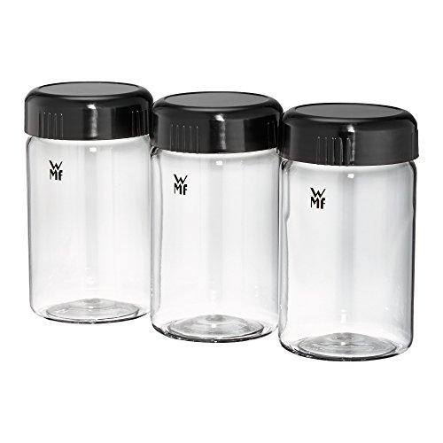 WMF Küchenminis Joghurtbecher, 3 Joghurt-to-go-Becher, BPA-frei, Erweiterungsset, à 150 ml, transparent