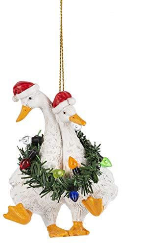 Midwest-CBK Ducks Stuck in Wreath Hanging Ornament