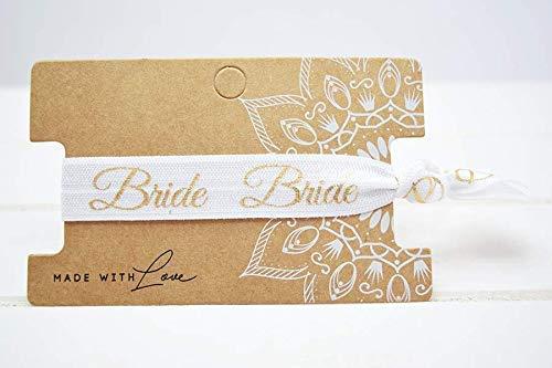 Bride Hair Tie, Haargummi, Armband in Weiss