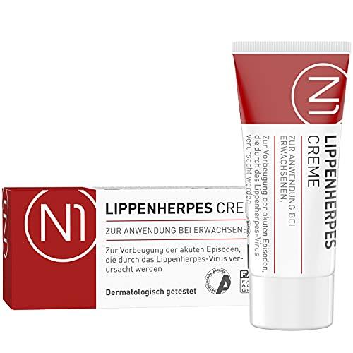 N1 Herpes Creme bei Lippenherpes mit Sofort-Effekt 2ml - wirkt gegen Herpes Symptome bis zu 30x schneller als Aciclovir - verhindert Bläschen-Bildung, stoppt die...