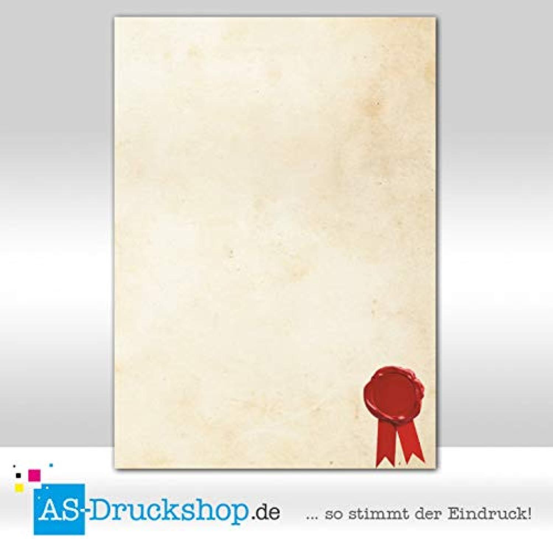 Motivpapier - Urkundenpapier - Wachssiegel   100 Blatt DIN A4   250 g-Offsetpapier B0794X2DHP  | Spielzeugwelt, spielen Sie Ihre eigene Welt