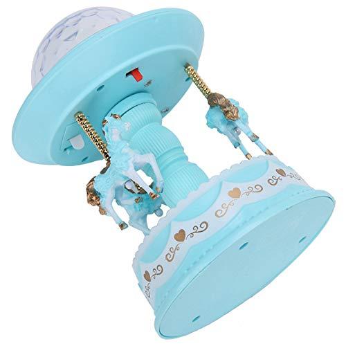 Fybida Caja de música romántica, con lámpara de proyección, Hija/Hijo para la decoración del hogar(Light Blue)