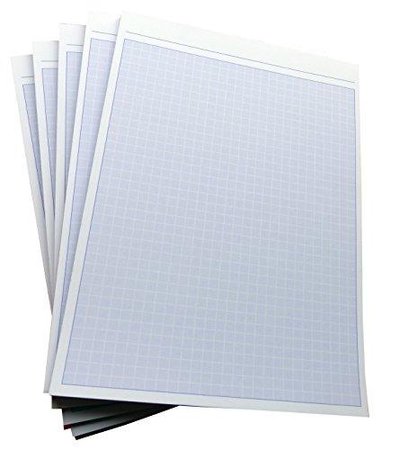 8x Notizblocks negativ kariert in BLAU - Notizen - 50 Blatt, DIN A5, 50 Blatt, Qualitäts-Offset-Papier 80g/m² (22743)