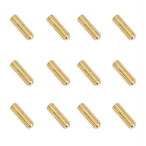 Inbusschrauben für E-Gitarre, Stegsaiten, Sattelhöhenverstellung, für Single Tremolo Bridge Bass Bridge - 3 mm x 12 mm, 12 Stück