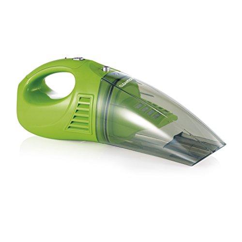 CLEANmaxx 04380 Akku-Handstaubsauger   Nass-Sauger und Trocken-Sauger in einem   Kabellos dank 4,8 V Akku   Inkl. Diverser Aufsätze   Ideal auch fürs Auto   Grün