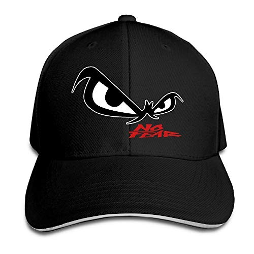 Youaini Unisex No Fear Owl's Eyes Sandwich Baseball Cap Black