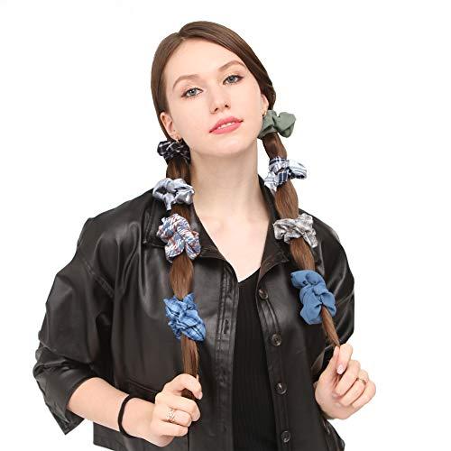 Folora 9 szt. elegancka niebieska opaska na głowę dla kobiet, wielobarwne opaski do włosów, elastyczne akcesoria do włosów do biegania i jogi