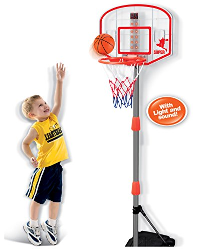Liberty Imports Junior Electronic Basketball Hoop Stand Indoor Game...