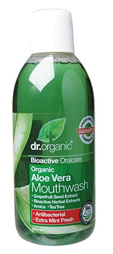 Dr. Organic Enjuague Bucal Aloe Vera Organico 500 ml