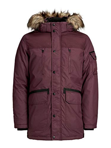 JACK & JONES Herren Parka Winterjacke Kurzmantel (Medium (Herstellergröße: M), Port Royale)