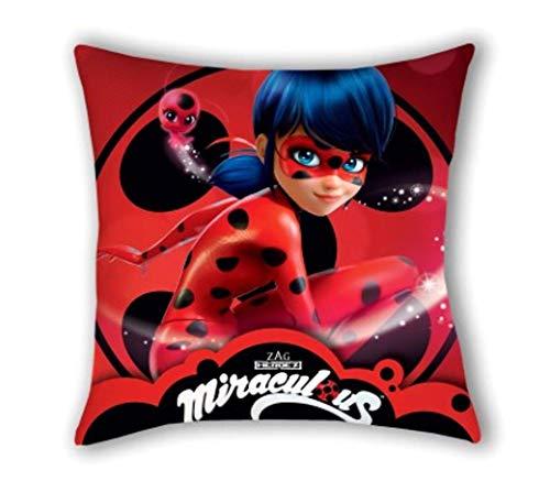 ZAG Miraculous Ladybug - Federa per cuscino, 40 x 40 cm, idea regalo per bambini Lady Bug