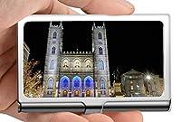 ビジネス名カードホルダー304ステンレススチール、モントリオールの精神で信仰信仰ノートルダム大聖堂ビジネスクレジットIdカードホルダー