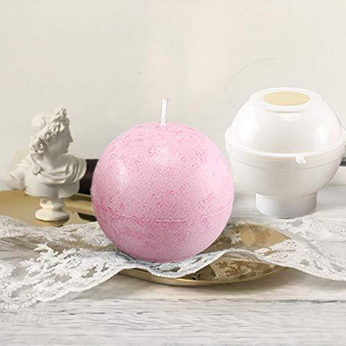 Adminitto88 Rose Ball Candle Stampi in Silicone di Rose Candle Ball - Stampo per Sapone in Silicone Stampo per Candele Stampo per Candele Fai-da-Te, Strumenti di Decorazione Domestica per Fashionable