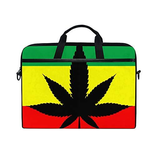 DOSHINE Laptop Bag Case Sleeve Marijuana Hemp Leaves Leaf Notebook Computer Bag for 14-14.5 inch Adjustable Shoulder Strap, Back to School Gifts for Men Women Boy Girls