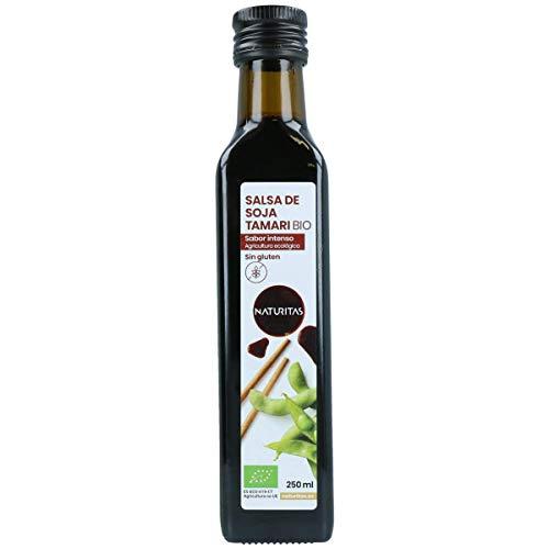 Naturitas Salsa de Soja Tamari sin gluten Bio | 250ml | Perfecta para regular la dieta de los vegetarianos y veganos, debido a su riqueza en proteínas | Ayuda a mejorar la digestión | Sabor intenso