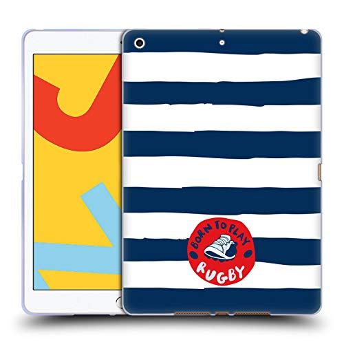Officiële England Rugby Union Geboren om strepen te spelen 2017/18 Kinderen Soft Gel Case Compatibel voor Apple iPad 10.2 (2019)