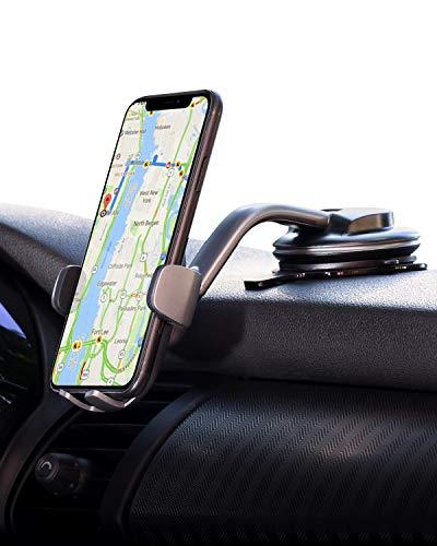 AUKEY Porta Cellulare Auto Cruscotto Supporto Smartphone per Auto Compatibile con iPhone 12 / iPhone 11/11 PRO/XS Max / 8/7, Google Pixel 3 XL, Samsung Galaxy S10+ E Altri