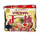Maru-chan Salsa de soja Instant Ramen fideos (5 x 80g) 400g - Crear al gusto como fideos recién hechos. Sabores de verduras en salsa de soja sopa.