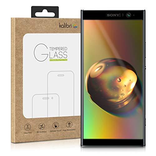 kalibri Folie kompatibel mit Sony Xperia XA2 Plus - 3D Glas Handy Schutzfolie - auch für gewölbtes Bildschirm
