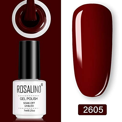 Gel Polish Set UV Vernis semi-permanente Primer Top Coat 7ml Poly Gel Vernis Nail Art Manicure Gel Lak PolishesNails RSS (Color : 2605)