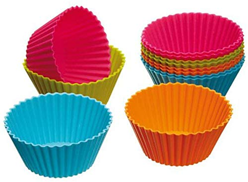 Cabilock Baking Cup 24pcs Silicone Baking Cups silicon cupcake liners cake molds soap moulds