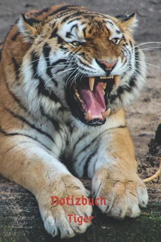 Notizbuch Tiger: Tagebuch, Notizbuch mit E-Mail, Telefon und Geburtstagsliste für Schule, Hobby und Freizeit.