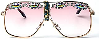TYJYY Sunglasses Lunettes De Soleil Mode Femmes Oversize Clair Rose Cadre en Métal Accessoires De Lunettes Hommes Rétro Fe...