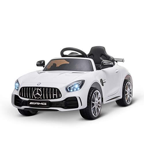 HOMCOM Coche Eléctrico para Niños Mercedes GTR con Licencia +3 Años Batería...